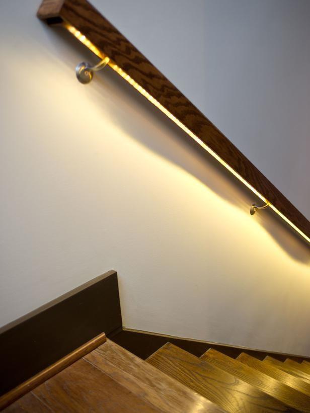 led lighting on hand rail